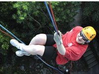 Rappelling down