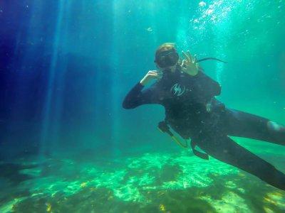 2 inmersiones de buceo en cenote Tulum y Arrecife