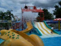 The bucket and slides