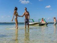 lanchas rápidas en laguna de cancún