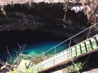 Entrance to the cenote