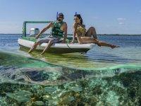 Snorkel en laguna nichupté