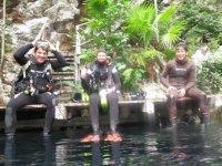 Inicio de la excursion en cenote