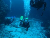 Buceando en el Cenote Angelita