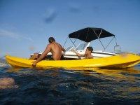 The kayaks