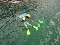 Snorkeleando en acapulco