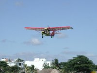 Flying in Cancun
