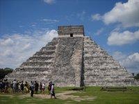 Visitando la piramide de Kukulcan