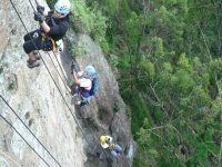 Abseiling in the mountains