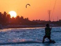 Enjoy these landscapes while you do kitesurfing