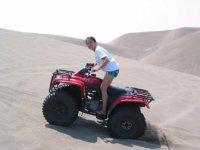 En las dunas de arena