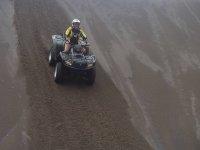 Impressive descent in the dunes
