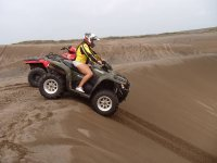 Maximum adrenaline when driving in the dunes