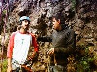 Teaching Climbing in a natural environment
