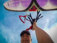 Photo in the paraglider