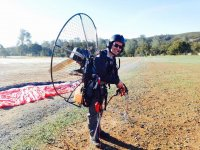 Descending with the paramotor