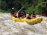 Rafting on fast rivers