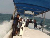 Con toda la actitud en barco
