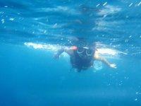 Enjoying the sea and snorkeling