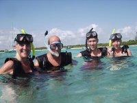 snorkeling group