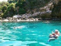 Crystal clear waters of the Isla de la Roqueta