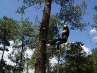 Tree climbing in Cascadas Tulimán