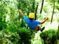 Flying among nature with our zip line system