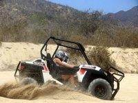 Derrota a la arena en tu vehiculo