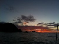 sunset in huatulco
