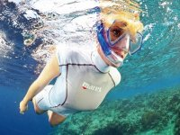 Snorkeling in crystal clear waters
