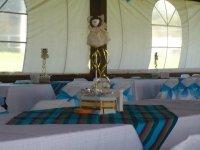 Tables prepared for communion