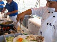 El buffet en el barco