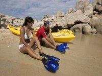 Snorkel y kayak