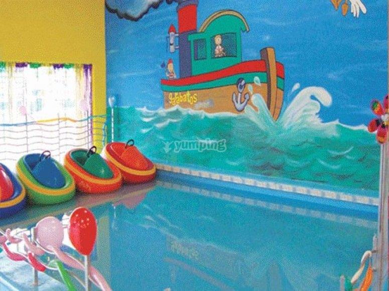 Salones de fiestas infantiles area de bebes de garabatos - Garabatos mobiliario juvenil e infantil ...