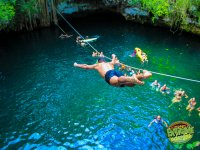 Jump into the water of this incredible cenote
