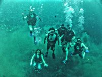 Underwater with friends