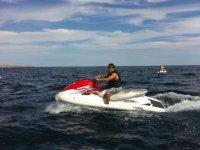 Recorrido en moto acuatica