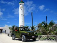 Jeep in the lighthouse