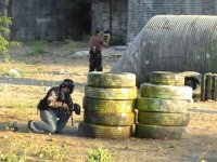 Paintball in action