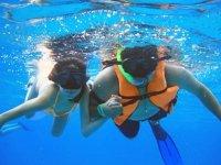 Snorkel with potato