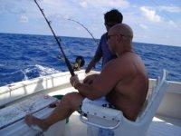 Comfortably fishing