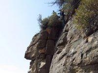 rock wall climbing