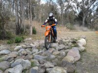 The enduro on the rocks