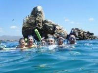 Snorkel en grupo en Baja