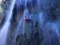 Rappelling waterfall