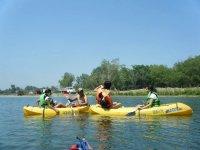Kayaks con amigos