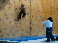 climbing with support