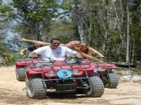 Expedition of ATVs in the jungle