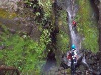 Fall through the waterfall