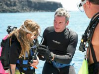 Introductory diving class